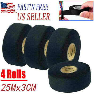 25m Car Adhesive Cloth Fabric Tape Electric Wiring Insulation Tape Harness Loom