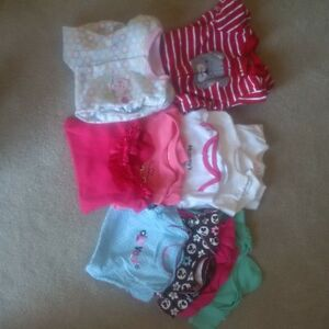Big Box of 0-3 and 3-6 month baby girl clothing