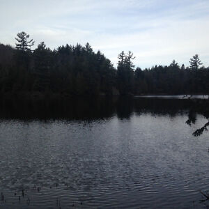 Waterfront lot on marble lake in Val des monts, Quebec