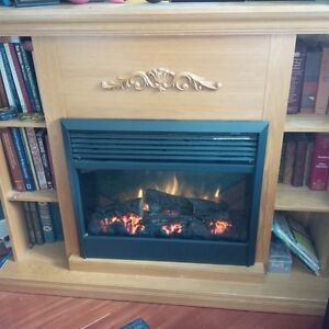 Large Electric Fireplace with shelving