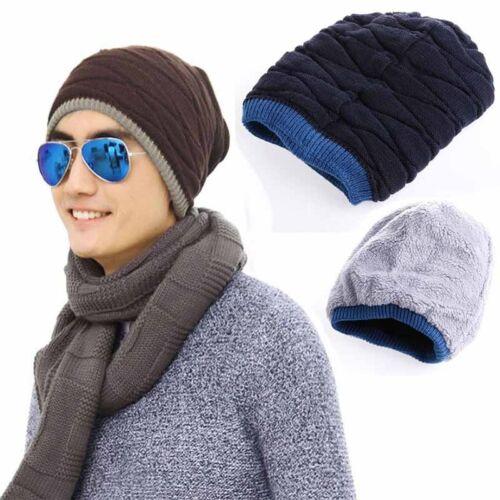 Men Womens knitting Knit Plicate Baggy  Wool Hat Skull Winter Warm Chic Cap
