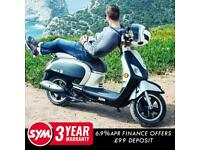 SYM FIDDLE 50cc Modern Retro Classic Scooter Moped Learner Legal For Sale