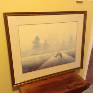 """Framed print """"A Misty Morning Ride""""  by T.C. Chise"""