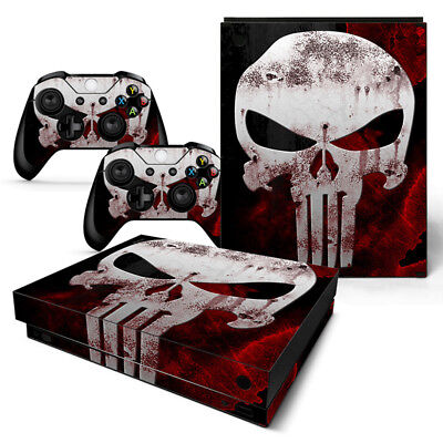 Xbox One X Punisher Console & 2 Controllers Decal Vinyl Skin Art Sticker XBX for sale  Shipping to India