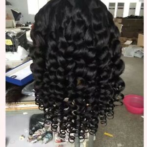 "20"" loose wave human hair full lace wig"