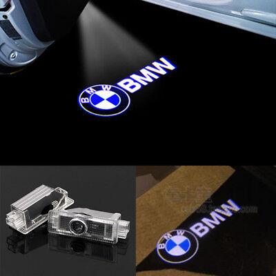 2X BMW 3D LED Light Logo Projector Emblem Accessory Car Bright Light Door Series