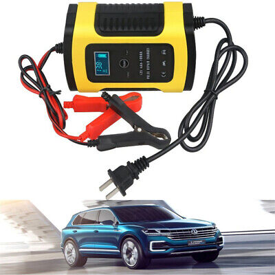 Car Battery Charger 110V To 220V To 12V 6A LCD for Auto Motorcycle Lead-Acid RF 220v Battery Charger