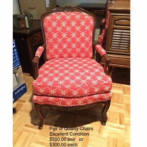 Pair of Quality Upholstered Chairs (2)
