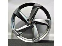 "x4 21"" Rotar Twist Style Alloys GM Polished Audi A7 A8 Q5 SQ5 5x112 9.5J"