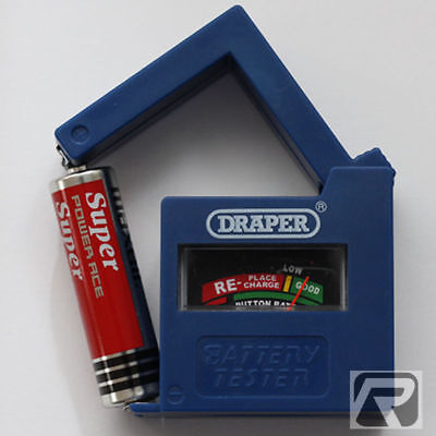 Draper Dry Cell Battery Tester Electrical Charge Check Voltage Tester Aa Etc
