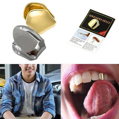 ener einzelner Zahn Fanggrill Grill Kappen Zähne Hip Hop #K1 (Gold Zähne Kappen)