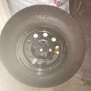 New RV/Trailer tire with bumper mount