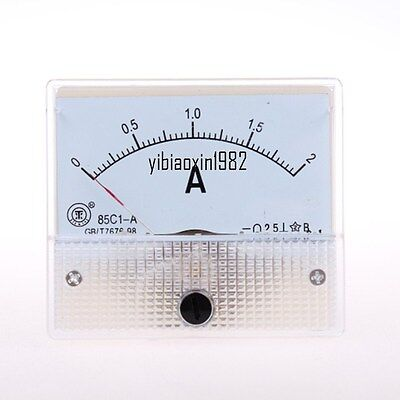 1pcs New 85c1-a Dc 0-2a Analog Current Panel Meter Ampere Ammeter