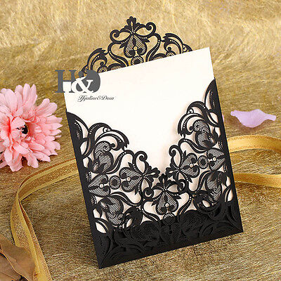 10PCS Wedding Invitation Cards With Envelopes Seals ...