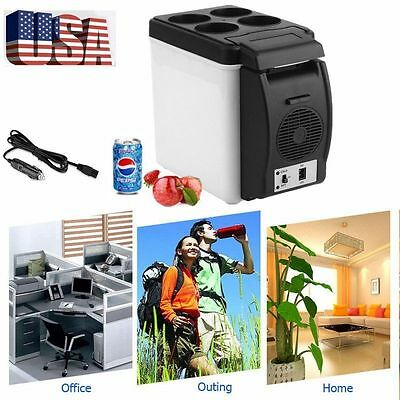 Car Small Refrigerator 12V Mini Fridge Compact Refridgerator Cooler Warmer  6L B
