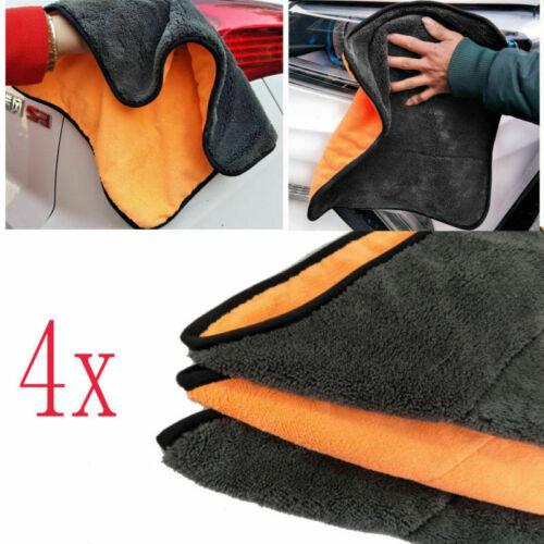 4x Auto Poliertuch Profi Mikrofasertücher 38*40cmTrockentuch Reinigungstuch Hot