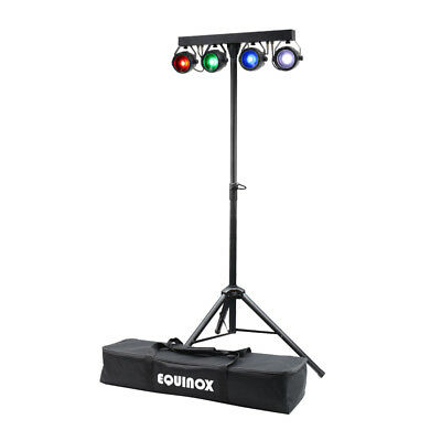 Equinox MicroBar COB System All-in-one T-Bar LED Par DJ Disco Lighting Kit