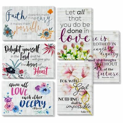 60-Pack Best Paper Greeting Cards, 6 Bible Verse Designs with Envelopes, 4