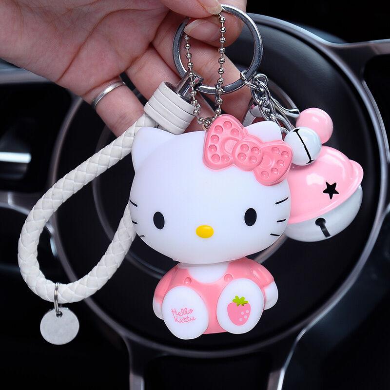 Hello Kitty - Cute Hello Kitty Cat Keyring Key Chain Keyfob Pendant Pink