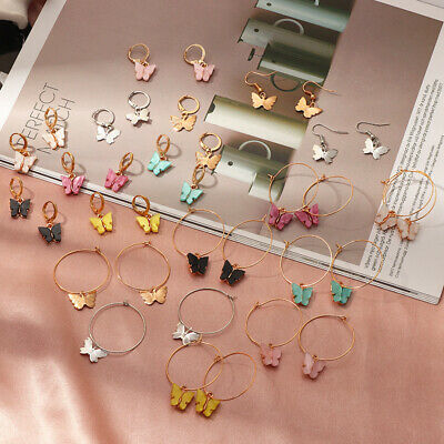 Butterfly Drop Earring Animal Sweet Colorful Acrylic Earrings For Women Girls