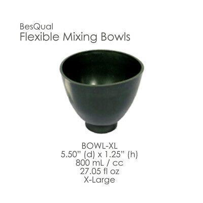 Dental Lab 3-piece Green Mixing Bowl Set Extra Large Size Flexible New