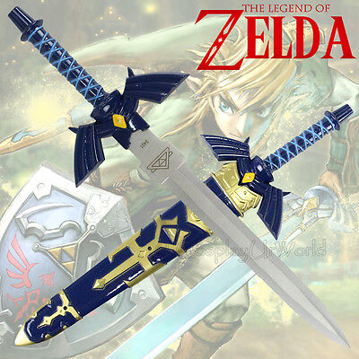 "Legend Zelda Triforce Link Hylian Ocarina Twilight Master Sword Blade Dagger 12"""