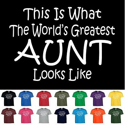 Christmas Shirt (Worlds Greatest AUNT Mothers Day Birthday Christmas Shower Gift Tee T)