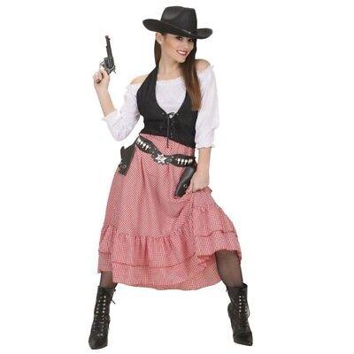 Western Lady Damen Kostüm Gr. S 34/36 Cow Girl 3 tlg. Salon Girl  #5845 (Salon Girl Kostüme)