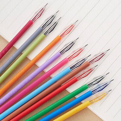 New 12pcs Diamond Head Pen Refills Stationery 12 Colors Office Gel Pens Refill