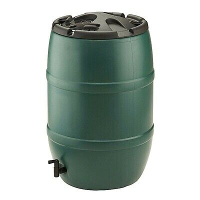 Water Butt 120 Litre Plastic Container Tap Caps Barrel Kit No Stand Garden Can