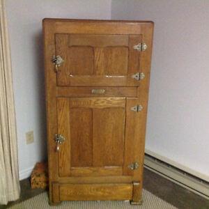 Antique wooden ice box