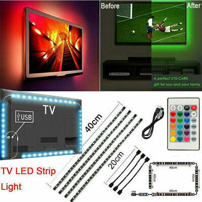 4pcs LED USB Backlight Kit Computer RGB LED Light Strip TV Background Lights LK