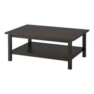 Black-Brown Solid Pine Coffee Table