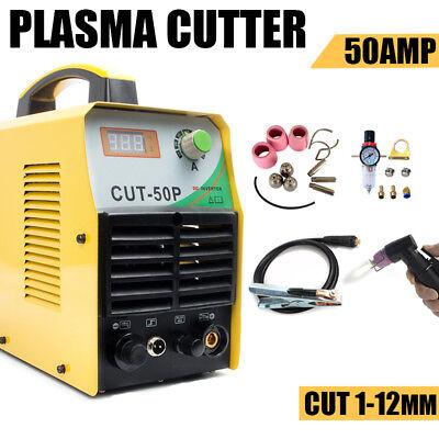 Plasma Cutter 50a Compressor Igbt Inverter Dual Voltage Pilot Arc Welder Kit