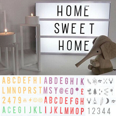 A4 Cinematic Light Up Sign Box Cinema LED Letter Light Home Party Wedding Decor  (Light Up Decorations)