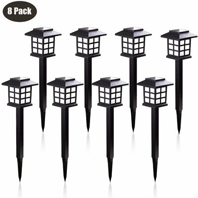 8 Pack Outdoor Garden Solar Power Pathway Lights Landscape Lawn Patio Yard Lamp ()