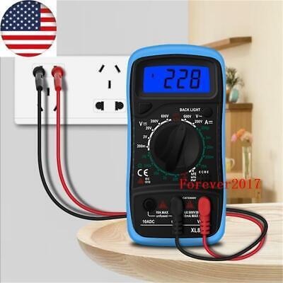 Usa Digital Multimeter Ac Dc Voltmeter Ammeter Ohmmeter Volt Tester Meter Xl830l