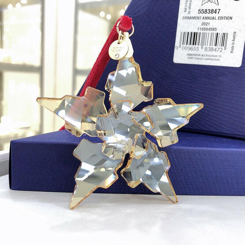 Swarovski Annual Edition 2021 Ornament Crystal Snowflake 5583847 Christmas Gift
