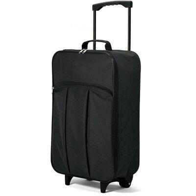 Maleta Cabina Plegable Blanda Poliéster 55 cm peso 1,4 kg Negro equipaje...