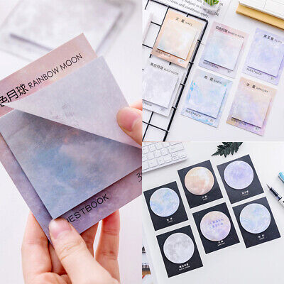 Creative Memo Pad Cute Stationery Planets Notebook Sticky Note Paper Sticker New