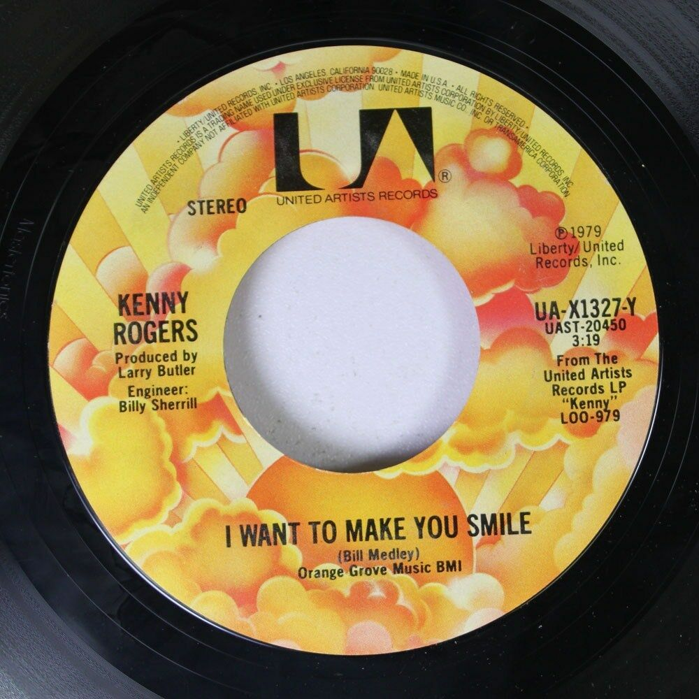 Country 45 Kenny Rogers Coward Of The County I Want To Make You Smile On Uni Ebay