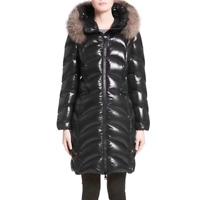 Moncler black down Albizia coat long sleeve