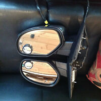 PAIR OF HEATED, ELECTRIC MIRRORS WITH CHROME CHEVY