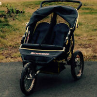 Double seat stroller