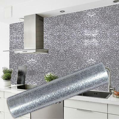 Kitchen Wallpaper Self Adhesive Oil-proof Sticker Waterproof Aluminum Foil Y2