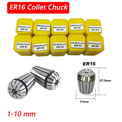 Er16 Chuck Drillpro Precision Spring Collet Set Cnc Lathe Tool Workholding