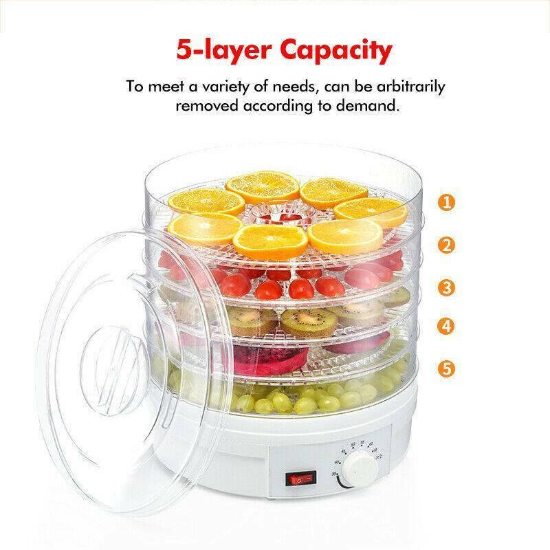 5-Tray Adjustable Countertop Fruit Drying US