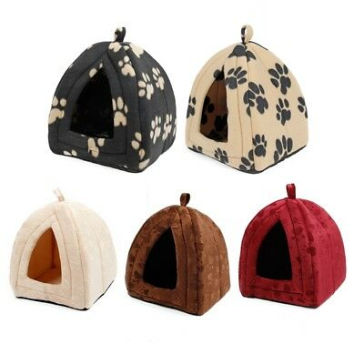 - Cat House Pet Beds Igloo Hut Kennel Cave Cat Cozy Warm Soft Hut House Kennel Bed