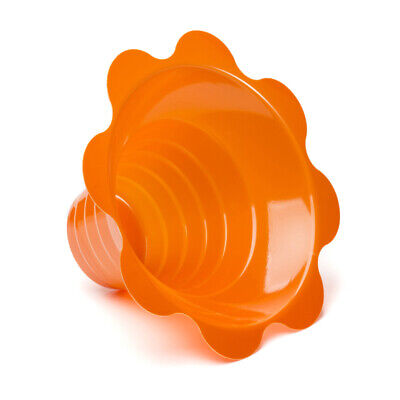 Small Shaved Ice Sno Cone Flower Cups 4 Oz 250 Count Orange