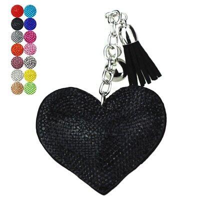 Heart Shape Keychain Acrylic Diamond Pendant Women Bag Key Ring Ornament Gift